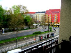 The host's balcony that made me fall in love with Berlin!