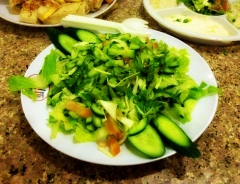 Main course: A plateful of cucumber!
