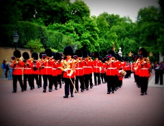 The sentries march past