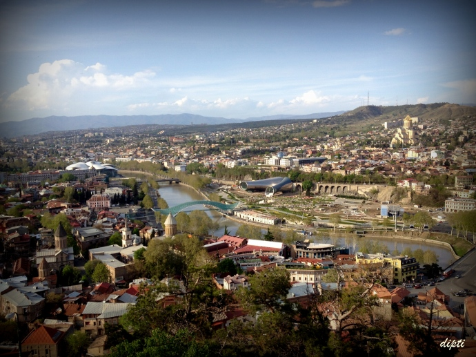 Birds eye view of Tbilisi