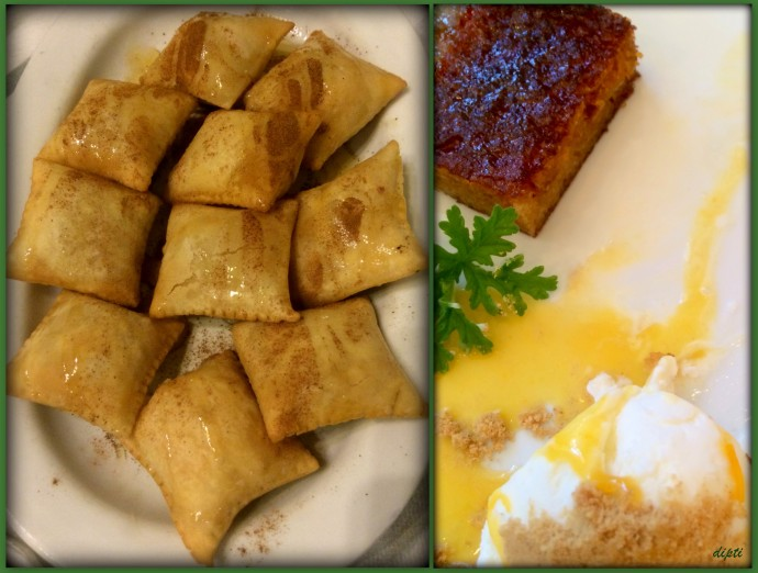 Desserts with feta cheese and greek yoghurt. Divine.