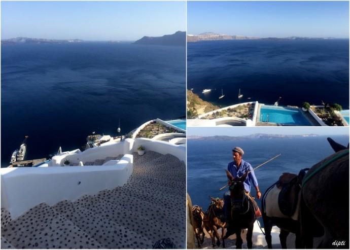 Santorini oia donkey