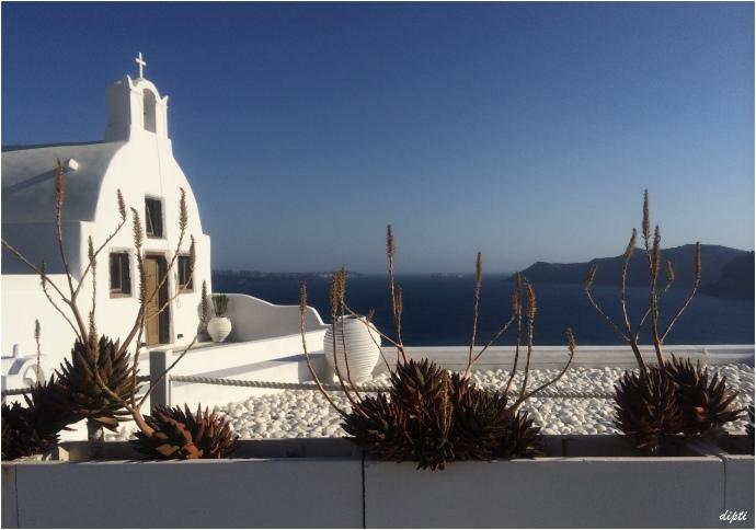 Santorini oia blue