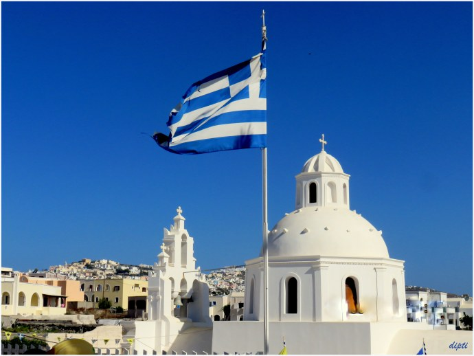 Greece santorini flag