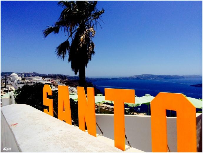 Santorini beach