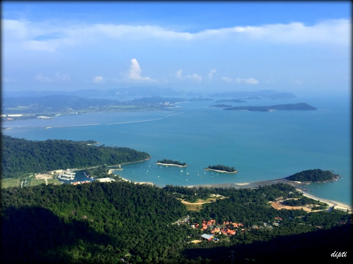 Langkawi island from