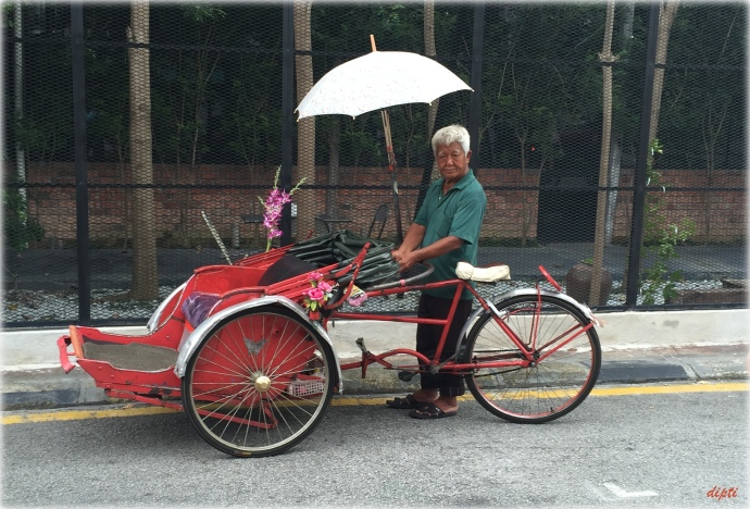 Penang cycle rickshaw