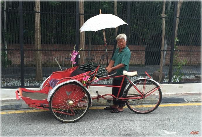 Penang cycle rickshaw