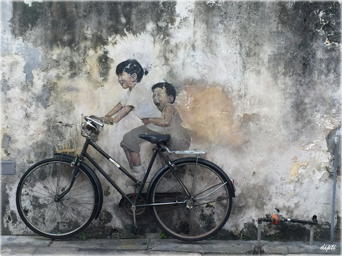 Ernest Zacharevic children bicycle