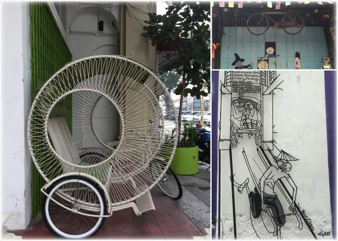 penang cycle art mural